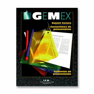 Gemex Transparent Vinyl Report Covers Clear 100/box