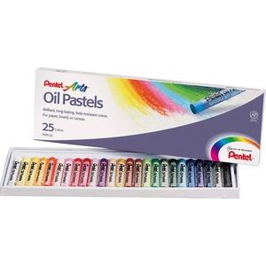 Pentel® Oil Pastels Assorted Colours 25/pkg