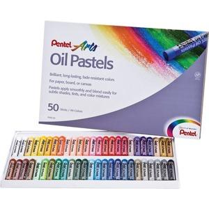 Pentel® Oil Pastels Assorted Colours 50/pkg