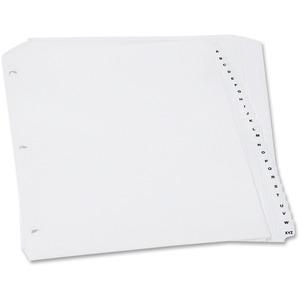 Oxford Preprinted Poly Index Dividers A-Z White