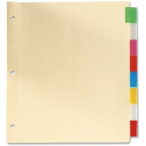 Oxford® Insertable Tab Index Dividers Legal Assorted Colours 8-Tab