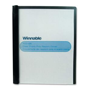 Winnable Poly Tang Clear Front Presentation Cover Letter Black