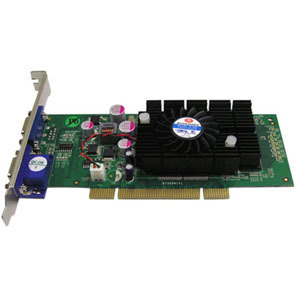 Nvidia Geforce 6200 PCI 512mb Ddr2 2port VGA 2x-Db15 Ports 25 / Mfr. No.: Video-348PCI-Twin