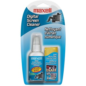 Maxell Digital Screen Cleaner Streak-free/ Non-abrasive and Lint-free / Mfr. No.: 290015