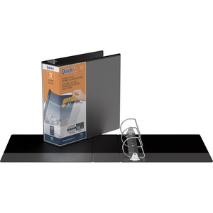 "Davis Group® QuickFit® View D-Ring Binder 3"" Black"