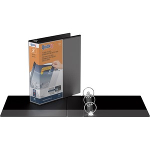 "Davis Group® QuickFit® View Round Ring Binder 2"" Black"