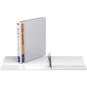 "Davis Group® Deluxe QuickFit® Heavy Duty View D-Ring Binder 1"" White"