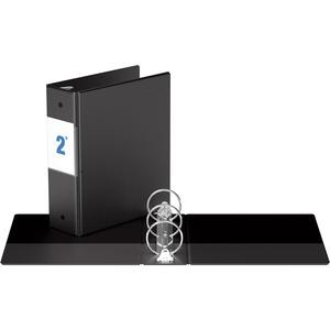 "Davis Group® Note Size Round Ring Binder 8-1/2x5-1/2"" - 2"" Capacity Black"