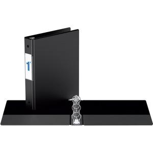 "Davis Group® Note Size Round Ring Binder 9-1/2x6"" - 1"" Capacity Black"