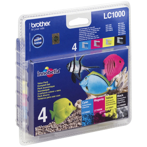Pack de 4 Encres Brother LC1000 Value Pack - LC1000VALBP