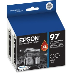 Epson Black Extra High Capacity Dual Pack For Workforce 40/600 / Mfr. No.: T097120-D2