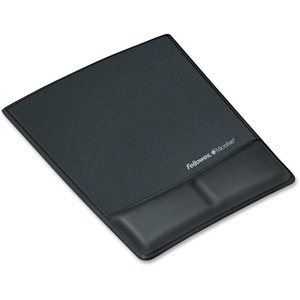 Mousepad/Wrist Support W/Microban Black Lthr