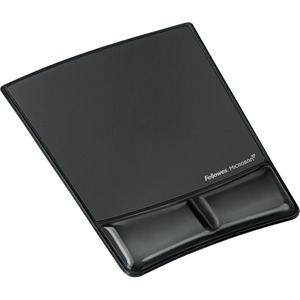 Mousepad/Wrist Support W/Microban Black Gel