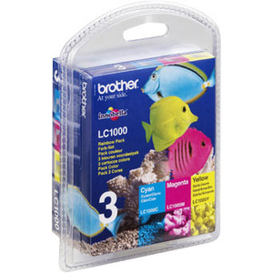 Brother LC1000RBWBP - Pack de 3 - jaune, cyan, - LC1000RBWBP