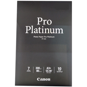Canon Photo Paper Pro Platinum - Papier photo - A3 plus (329 x 423 mm) - 300 g/m2 - 10 feuille(s) - - 2768B018