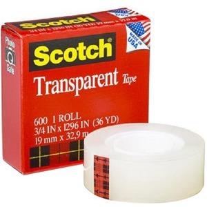 "Scotch® Transparent Tape Refill 3/4"" (19 mm x 33 m)"