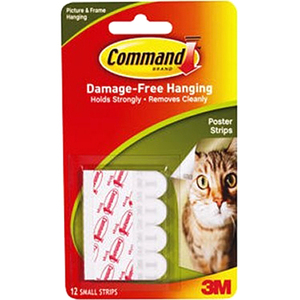 Command Adhesive Poster Strips 12/pkg