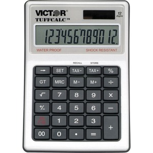 Victor® TuffCalc Water and Shock-Resistant Dual Power Calculator