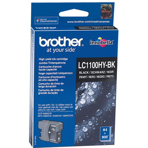 Encre Brother Noire LC1100HYBK Pour DCP-6690CW, MFC-5890CN/6490CW/6890CW - LC1100HYBK