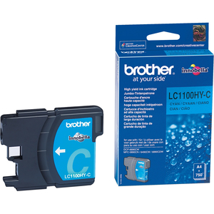 Encre Brother Cyan LC1100HYC Pour DCP-6690CW, MFC-5890CN/6490CW/6890CW - LC1100HYC