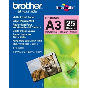 Brother BP - Papier mat - A3 Nobi (328 x 453 mm) 25 feuille(s) - pour Brother DCP-J4225, MFC-J4720, - BP60MA3