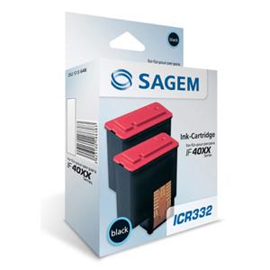 Pack de 2 Encres Sagem Noires pour IF4035/4065 - ICR332K