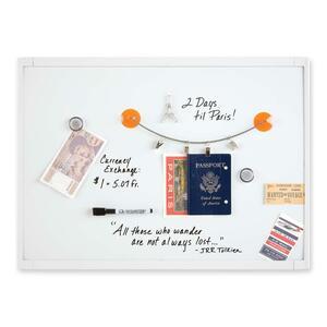 "Quartet® Plastic Frame Magnetic Dry Erase Board 17"" x 23"" White"