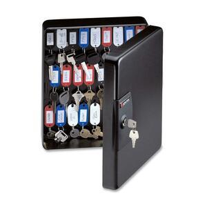 Sentry® Key Box Cabinet Holds 50 Keys Black