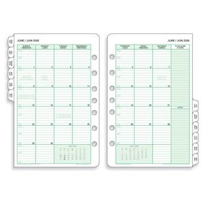 Day-Timer® Refill Monthly Desk Size 2PPM Bilingual