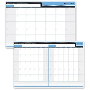"Day-Timer® Double-Sided Flexible Planner 30/60 Day 24"" x 36"" Bilingual"