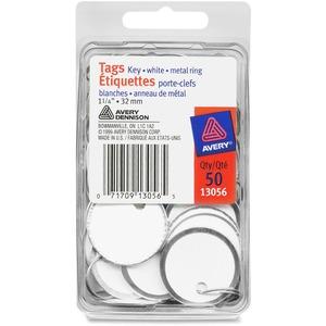 """Merangue Key Tags with Metal Ring 1-1/4"""" 50/pkg"""