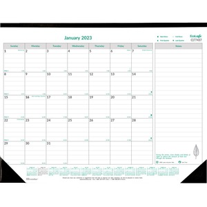"Brownline® Ecologix Monthly Desk Pad 22"" x 17"" English"