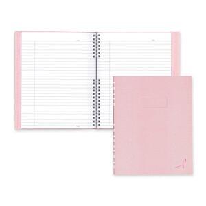 "Blueline® NotePro Pink Ribbon Notebook 9-1/4"" x 7-1/4"" 150pgs Pink"