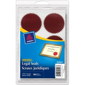 Avery® Legal Seals Red 102/pkg
