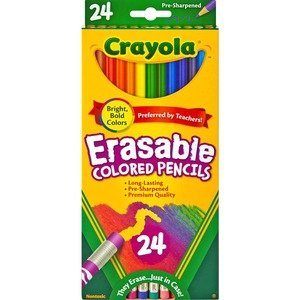 Crayola® Erasable Coloured Pencils Assorted Colours 24/pkg