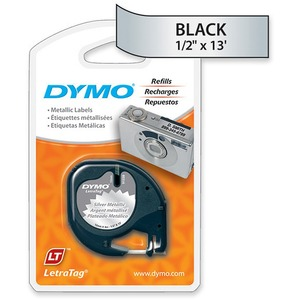 91338 Black Print / Silver Meta Llic Tape 1/2in X 13ft / Mfr. no.: 91338