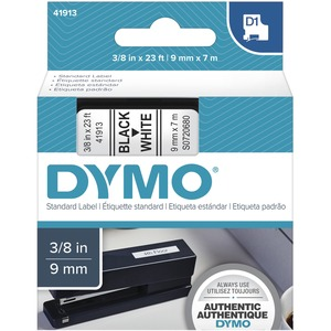 "DYMO® D1™ Polyester Replacement Tape 3/8"" Black on White"