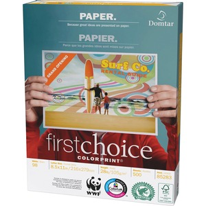 Domtar First Choice ColorPrint® Paper 98B 28lb Letter 500/pkg