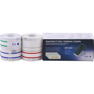 520-Labels 1-1/8 X 3-1/2 Slp-4ast Asst Color Yel/Blu/Grn / Mfr. No.: Slp-4ast