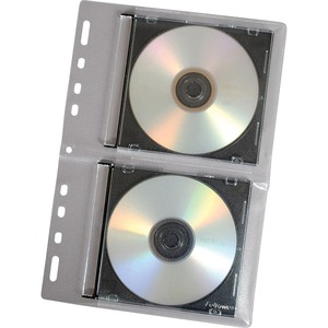 Cd Looseleaf Binder Sheets Clear 2-Cd Per Page