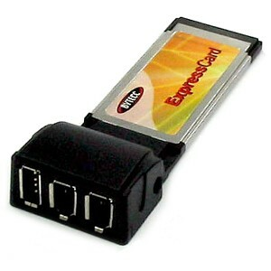 Bytecc 3-port USB/Firewire Express Card