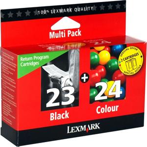Encre Lexmark Noire et Couleurs N°23 + 24 - 18C1419E