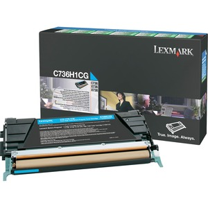 Cyan High Yield Return Prog Toner Cart For C736 X736 X738 / Mfr. No.: C736h1cg