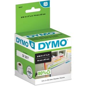 "DYMO® LabelWriter® File Folder Labels 9/16"" x 3-7/16"" White 130 labels per roll2/box"