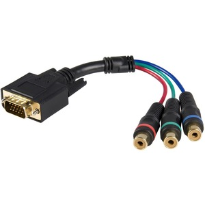 6in RCA Hd15 M/F To Component Breakout Cable Adapter / Mfr. No.: Hd15cpntmf