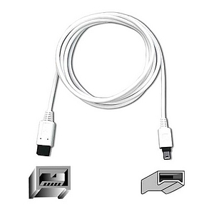 Belkin 6ft IEEE-1394 9pin To 4pin 800/400mbps Ultrathin Firewire Cable / Mfr. No.: F3N403-06-APL