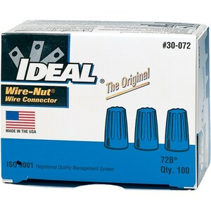 Ideal 72b Blue Wire-Nut 100/Pk Nic / Mfr. No.: 30-072