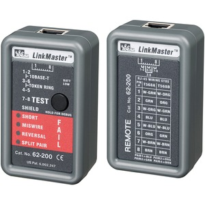 Ideal Linkmaster UTP/Stp Cable Tester Nic / Mfr. No.: 62-200