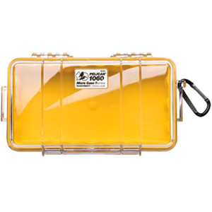1060 Micro Case Yellow W Clear Lid Liner 8.25x4.25x2.25 / Mfr. No.: 1060-027-100