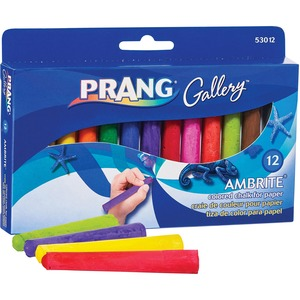 Prang® Gallery® Ambrite® Paper Chalk Assorted Colours 12/box